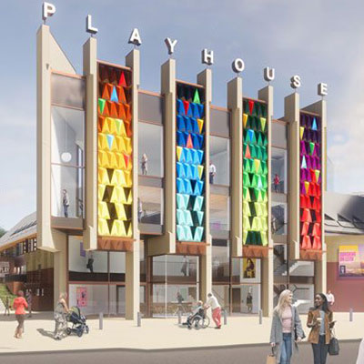 Artists impression of the renovated Leeds Playhouse.
