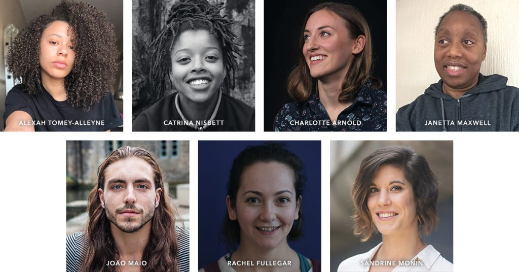 A series of headshots of the LDP support panel, including: Alexah Tomey-Alleyne, Catrina Nisbett, Charlotte Arnold, Janetta Maxwell, Rachel Fullegar and Sandrine Monin. LDP board member João Maio is also included.